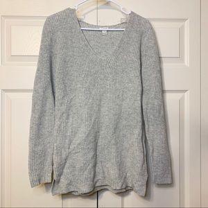 NWOT J Crew grey v neck merino wool sweater